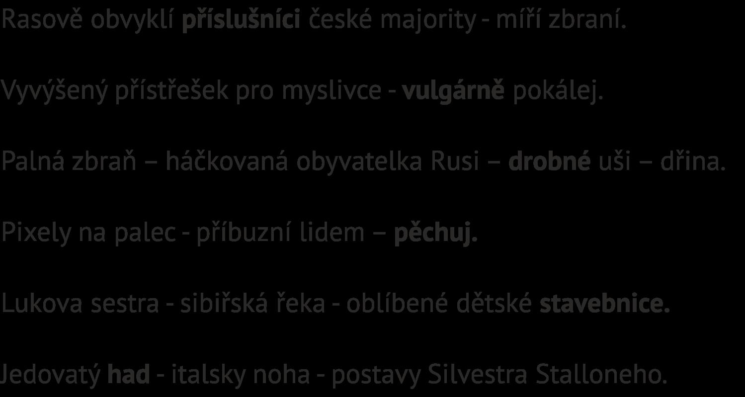 Zadání šifry Titulní